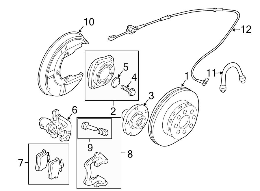 Audi A4 Disc Brake Pad Set (Rear). Pads, SUSPENSION