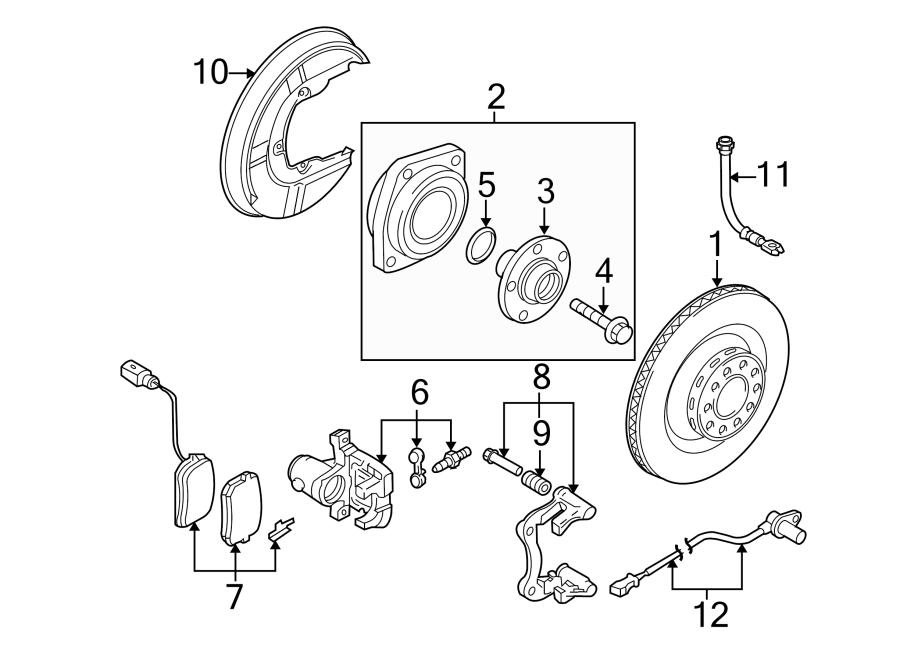 Audi RS4 Disc Brake Pad Set (Rear). Pads, SUSPENSION