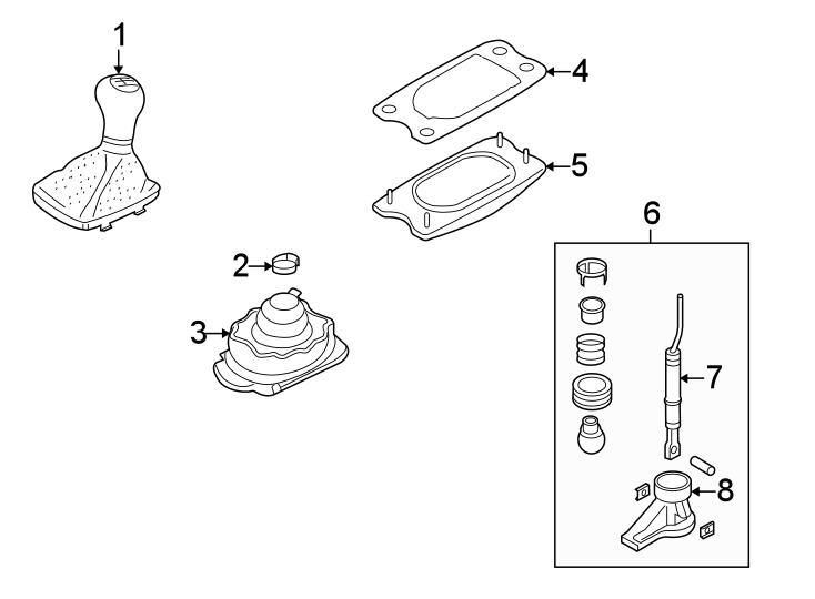 2016 Audi A4 Manual Transmission Shift Lever. SHIFTER
