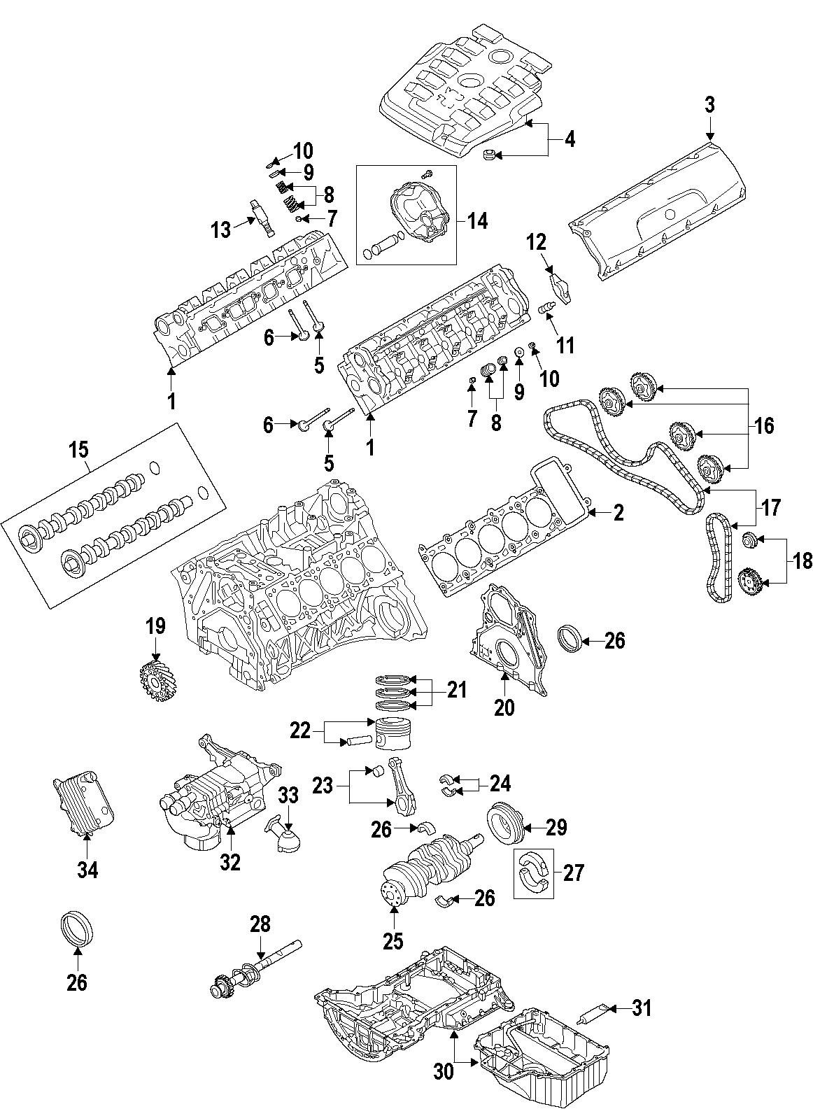 Audi S6 Engine Valve Cover Gasket 5 2 Liter 5 2