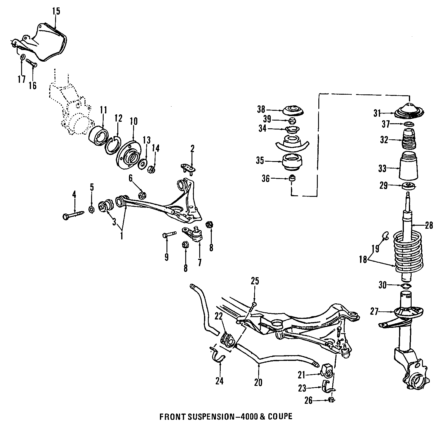 1991 Audi Arm. CONTROL. Bushing. Mount. SUSPENSION