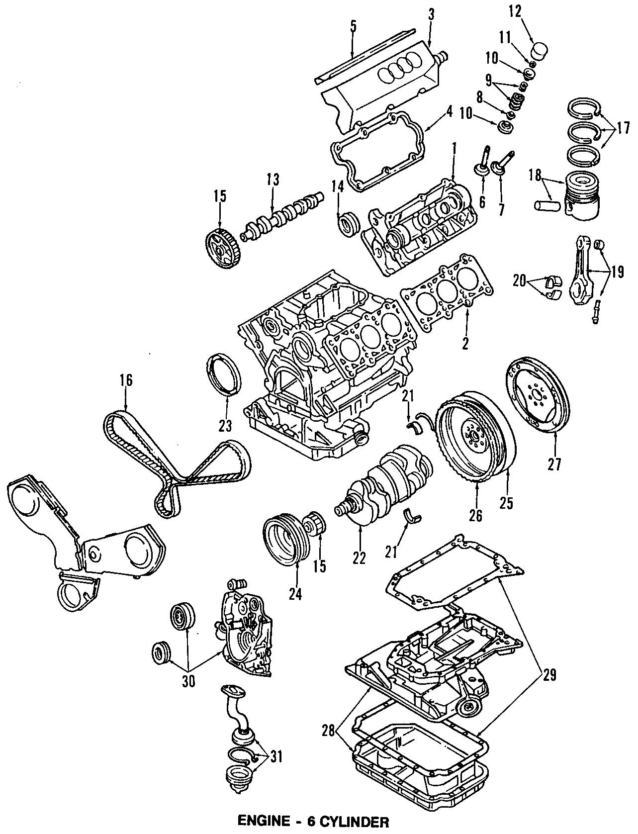 Audi A4 Engine Oil Cooler Liter Vin Bearings