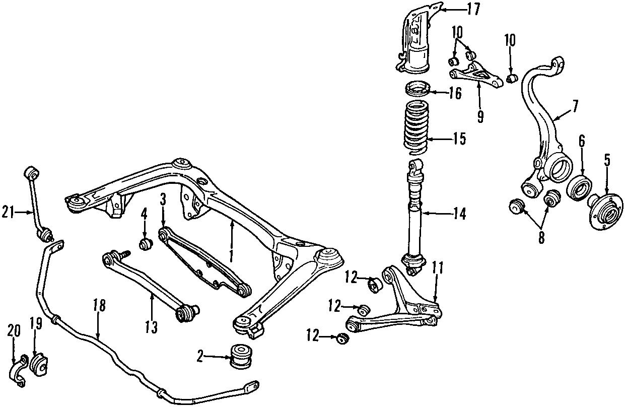 1999 Audi A4 Base Sedan 2.8L V6 A/T Quattro Coil Spring