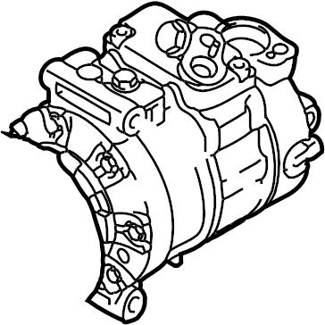 2015 Audi Q3 Air conditioning (a/c) compressor. Liter, gas