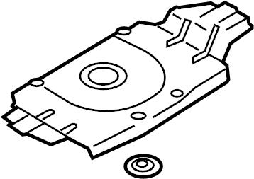 Audi A3 Shield. Heat. (Rear). LITER, EXHAUST, SYSTEM