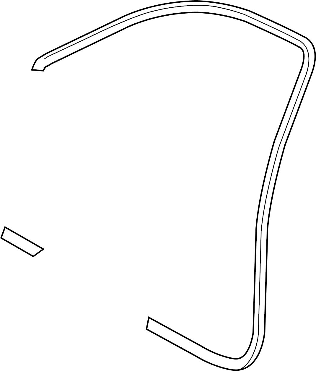 2008 Audi A3 Door Seal. Black, Weatherstrip, Surround