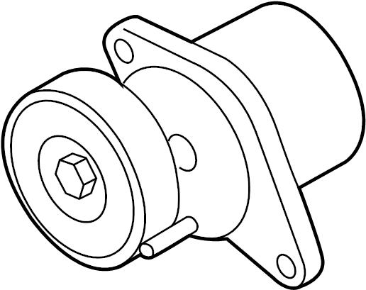 Audi A6 Belt tensioner. BELTDAMPER. Mount bracket