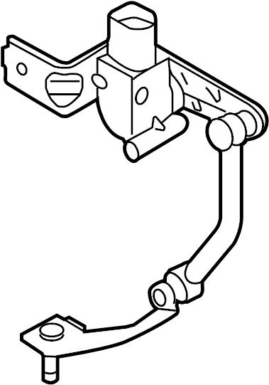 2015 Audi S3 Sensor. Level. (Front). Left, HEADLIGHT