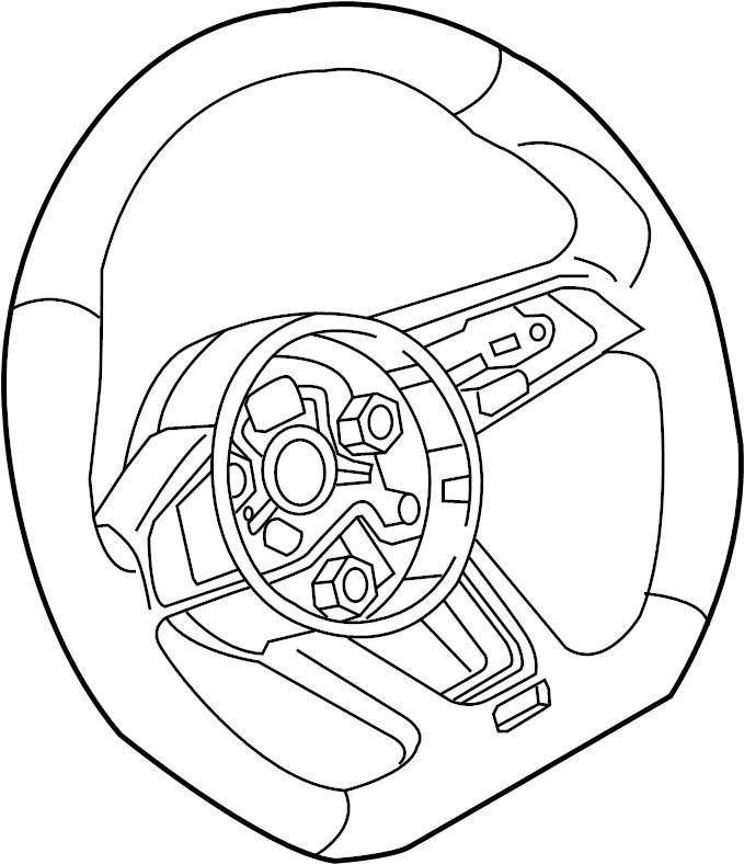 2019 Audi S4 Steering Wheel. Wperforated, WFLAT, BOTTOM