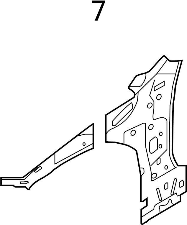 Audi A3 Fender Rail. SEDAN. SEDAN, SEDAN. Sedan/Wagon