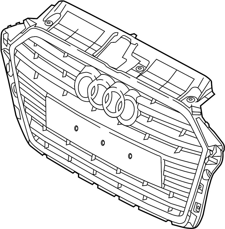 2018 Audi A3 Grille (Upper). PKG, LINE, Chrome