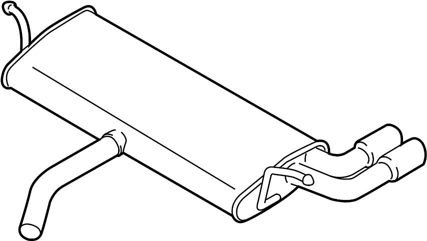 Audi A3 Muffler. (Front, Rear). ENGINE, CZRA, Code
