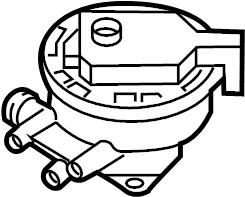 Audi A3 Pressure. Valve. System. EVaporative. Emissions