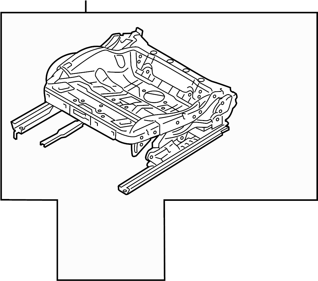 Audi A3 Seat Track. CONVERTIBLE, CUSHION COMPONENTS