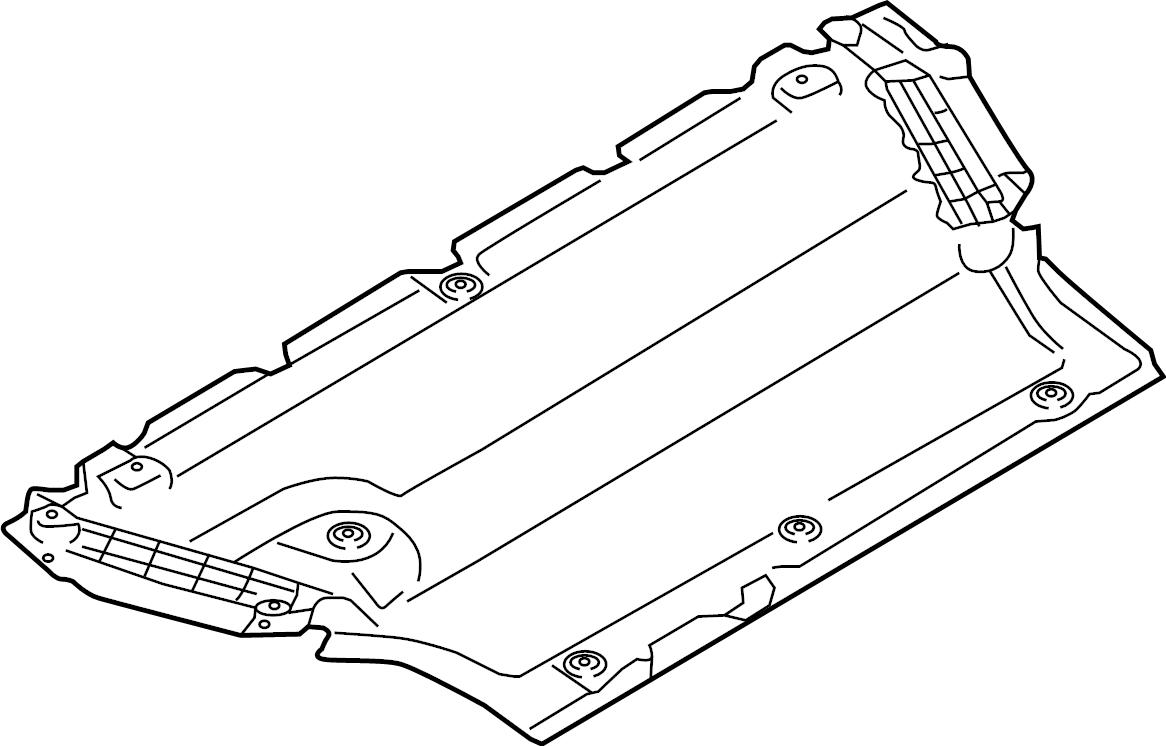2017 Audi A4 Baffle. Radiator support splash shield. Under