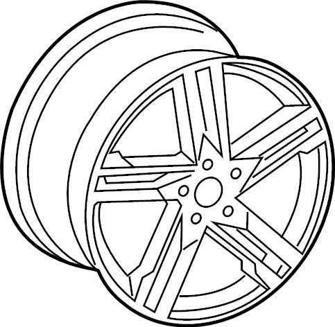 2017 Audi A4 Wheel, alloy. 18, 5 double spoke. 18, 5