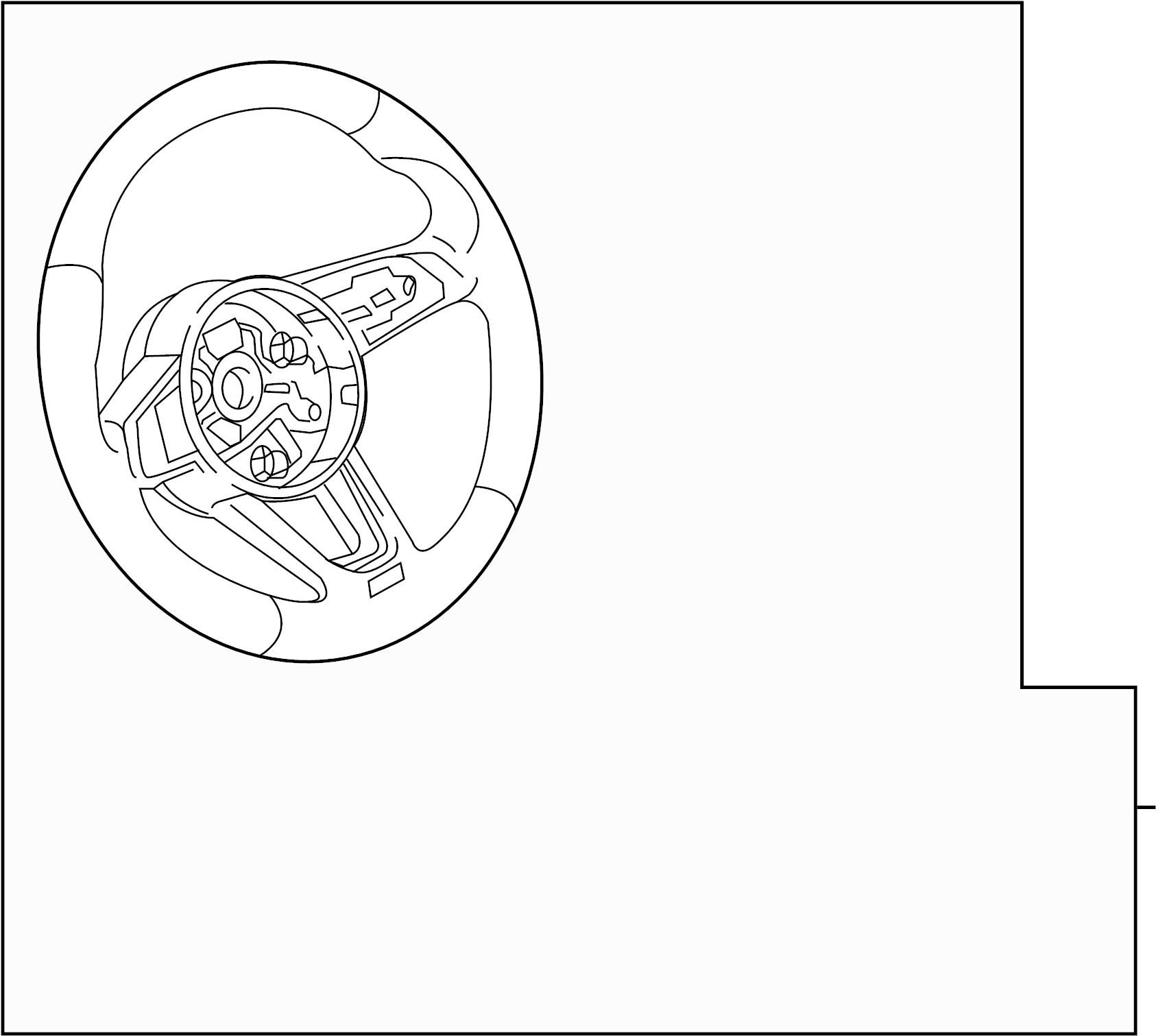 2017 Audi A4 Steering Wheel. W/O FLAT BOTTOM, w/heated