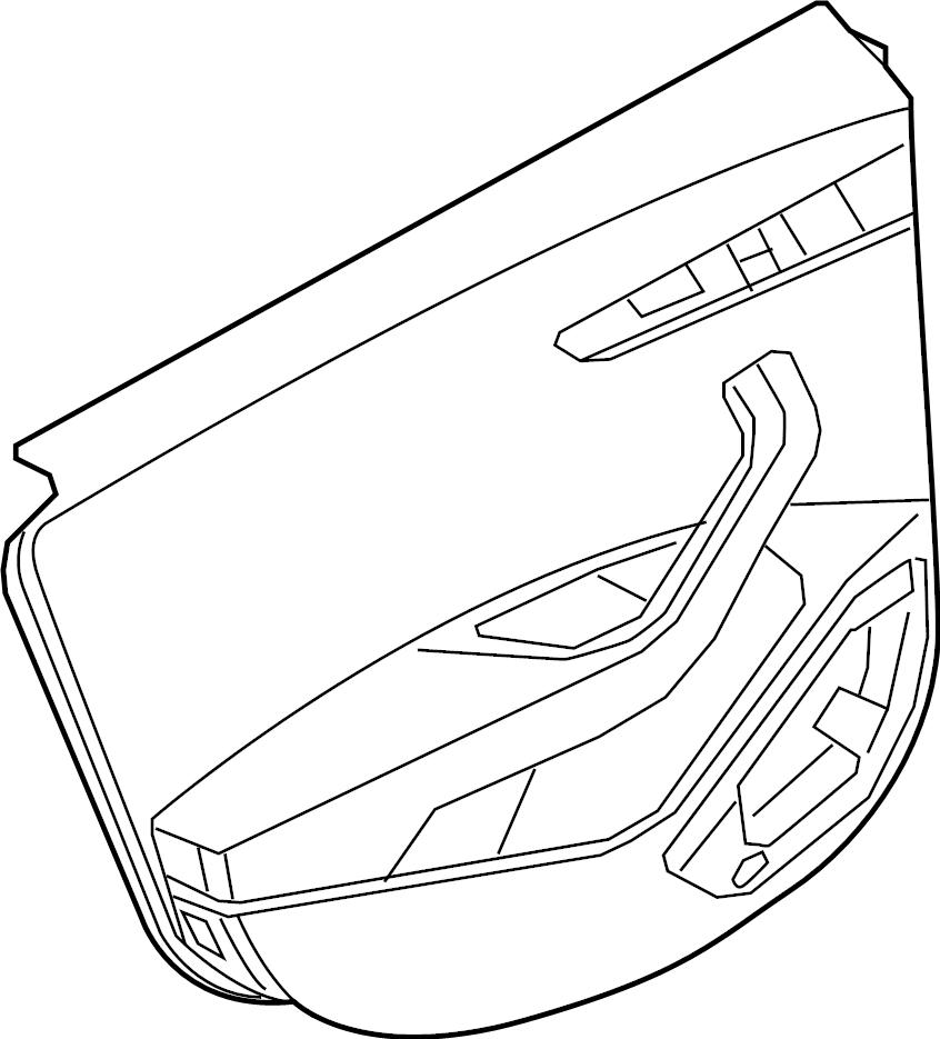 Audi A4 Door Interior Trim Panel. Black, Olufsen, WBang