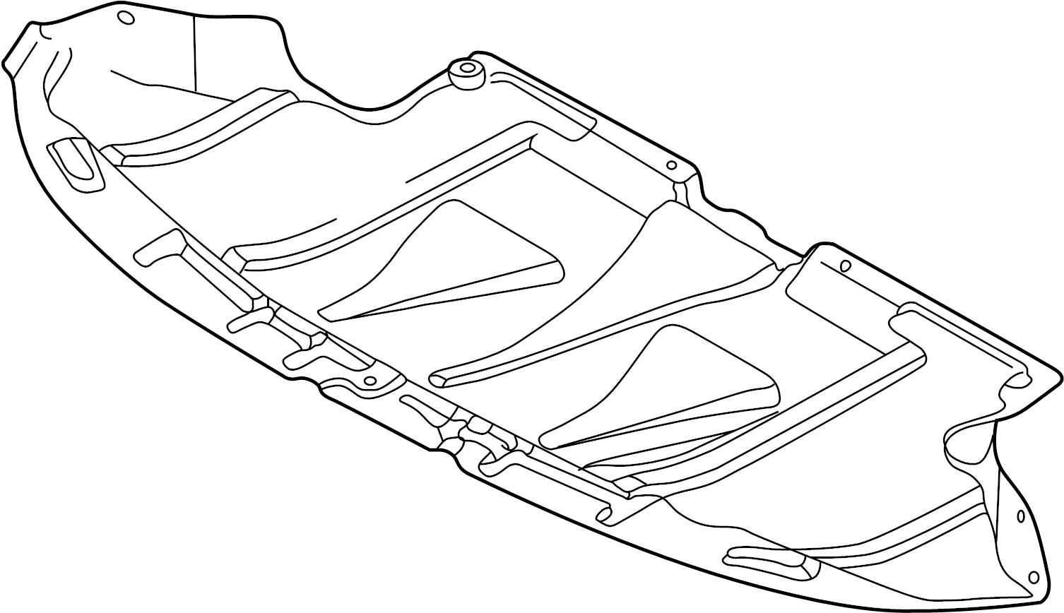 2004 Audi S4 Base Sedan Shield. LITER, Splash, SHIELDS