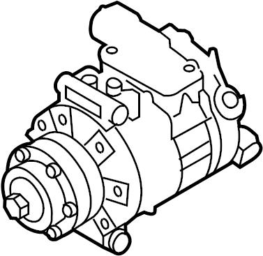 2004 Audi S4 Avant Wagon 4.2L V8 A/T A/c compressor