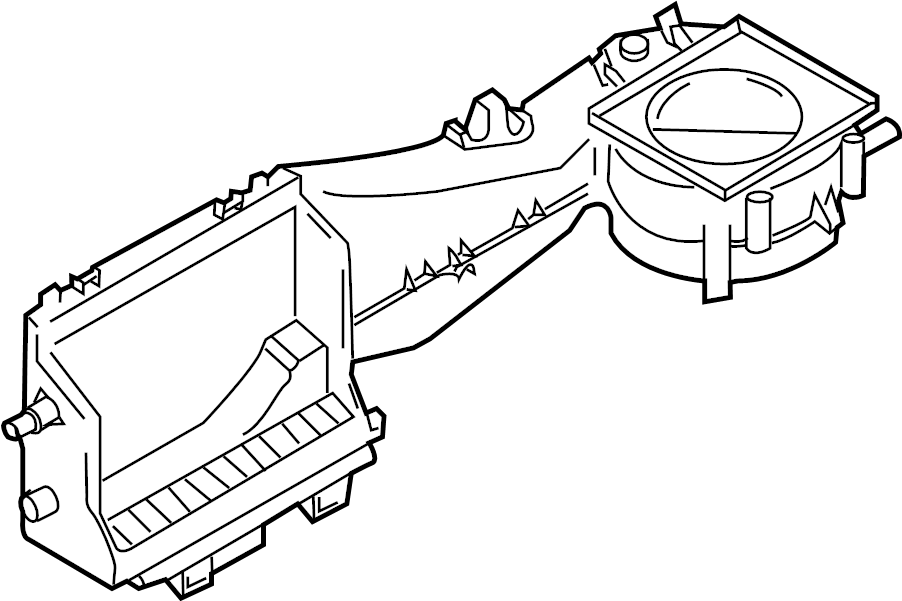 2005 Audi A4 Air conditioning (a/c) evaporator core case