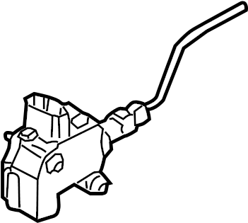 Audi A4 Actuator. Fuel Filler Door Lock. Guide. Latch