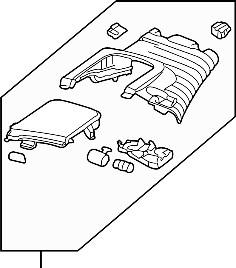Audi RS4 Interior Quarter Panel Trim Panel (Upper