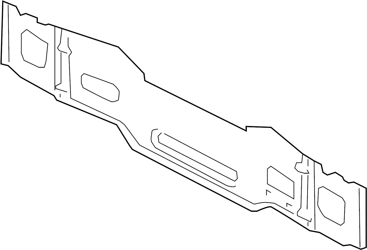 Audi A4 Panel Reinforced Body Lower Rear Apron Rear Reinforcement Tail