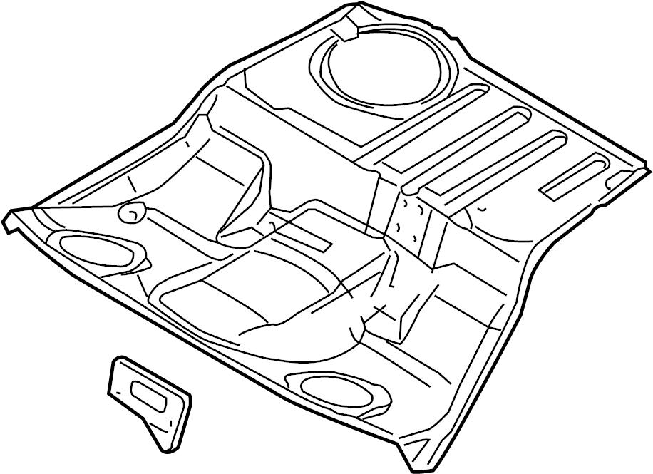 2008 Audi A4 Floor Pan (Front). Floor. Pan. Center. BODY