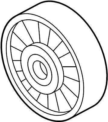 2007 Audi Idler pulley. ROLLER. 4.2 LITER, RS4