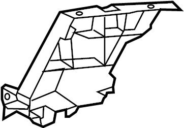 2013 Audi S7 Guide. Side retainer. Pkg, brackets, right