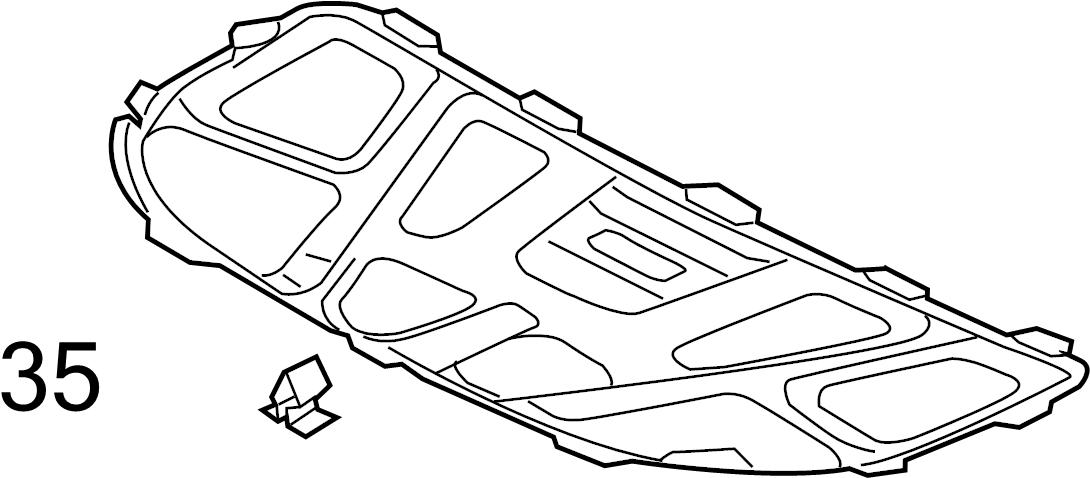 Audi A4 Hood Insulation Pad Clip. Insulator, Retainer