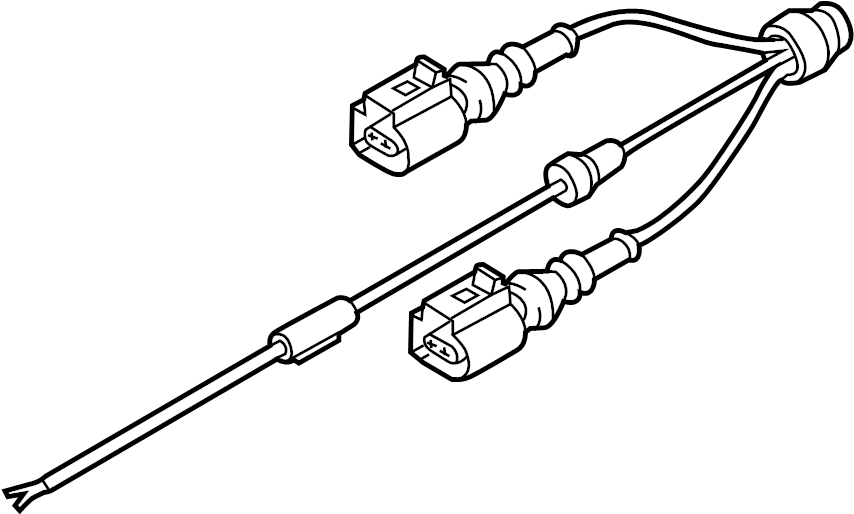 2014 Audi A6 Abs sensor wire. Abs wheel speed sensor