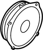 2012 Audi A7 Speaker (Front). Lower, w/Bose audio. Left