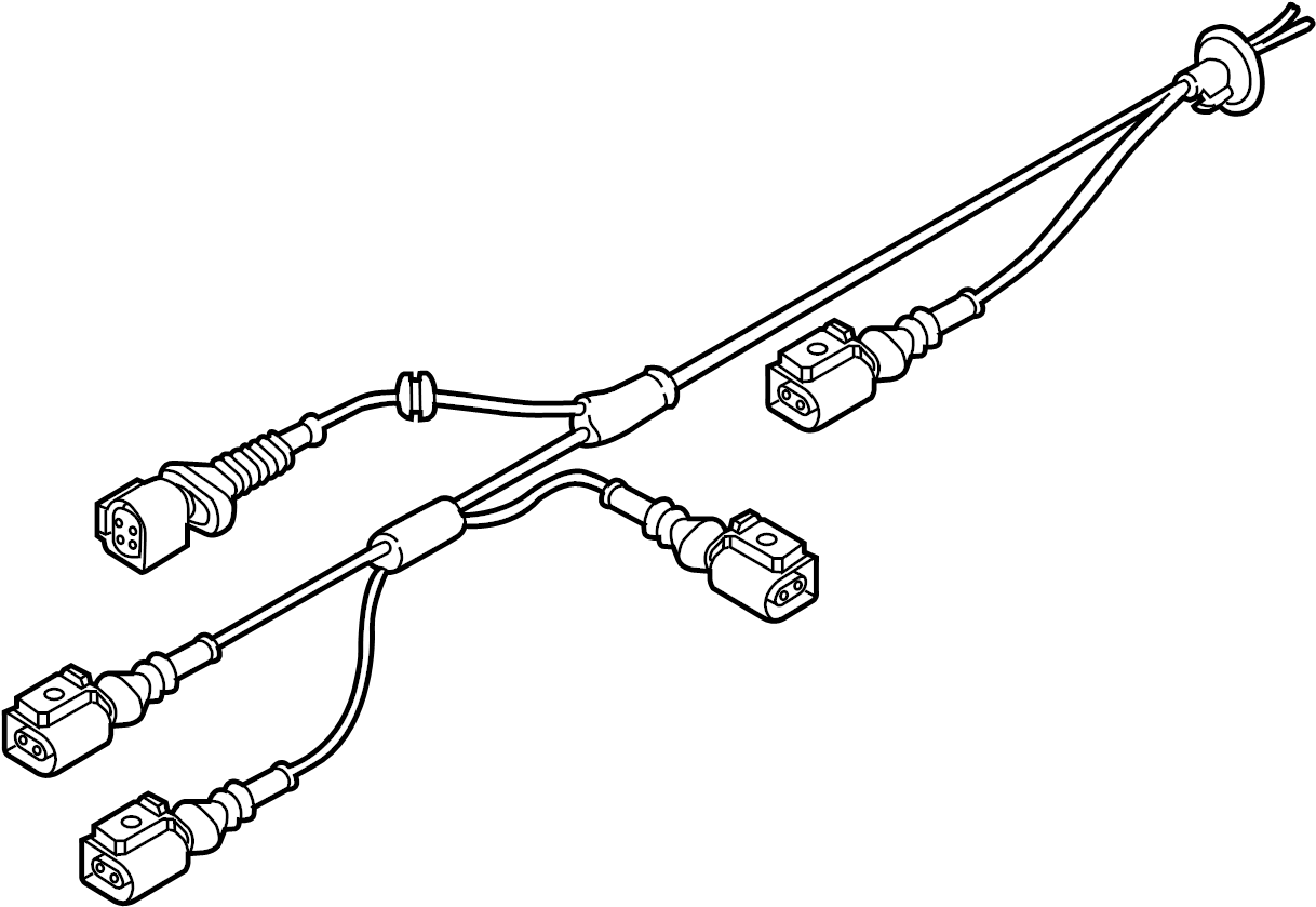 Audi A7 Abs Wheel Speed Sensor Wiring Harness Suspension