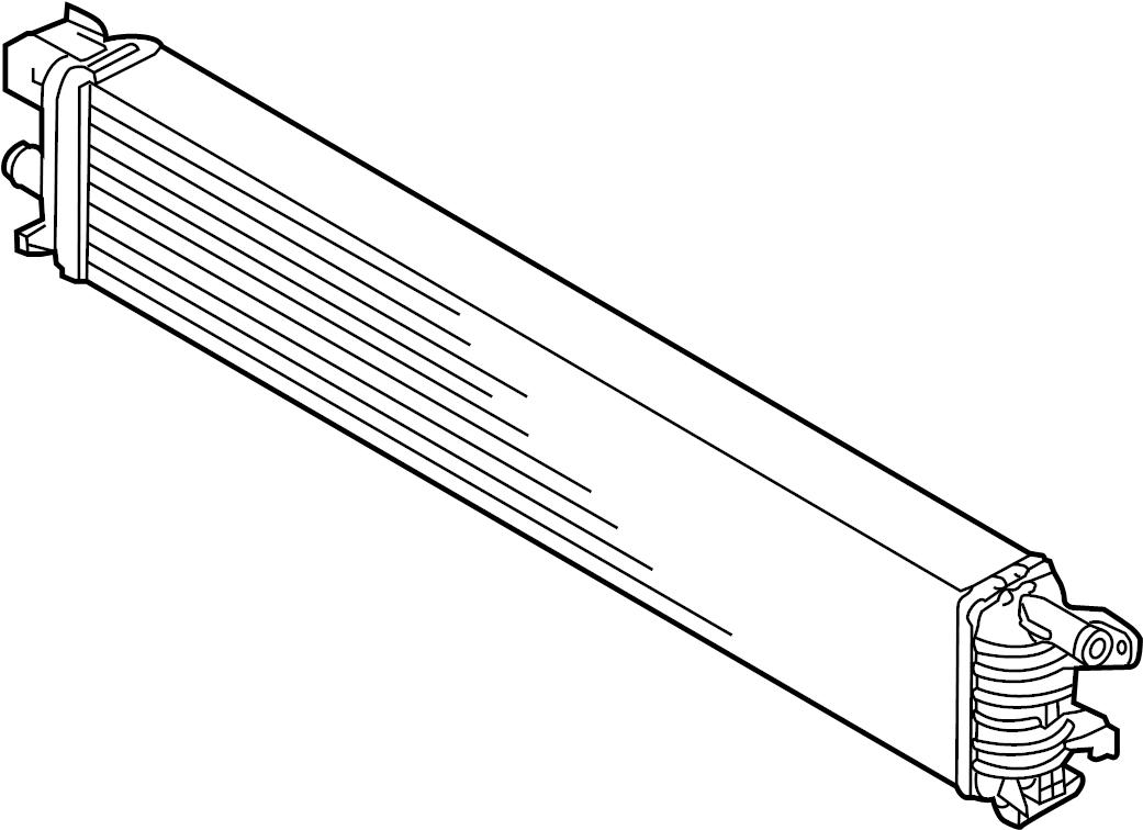 2014 Audi S7 Auxiliary radiator. Intercooler. Auxiliary