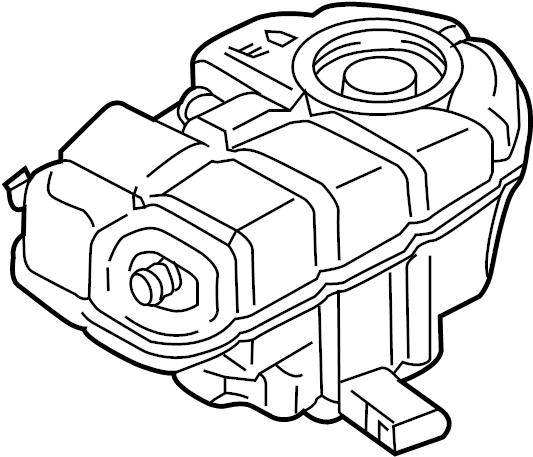 Audi A6 Engine Coolant Reservoir. MAIN, Tank, LITER