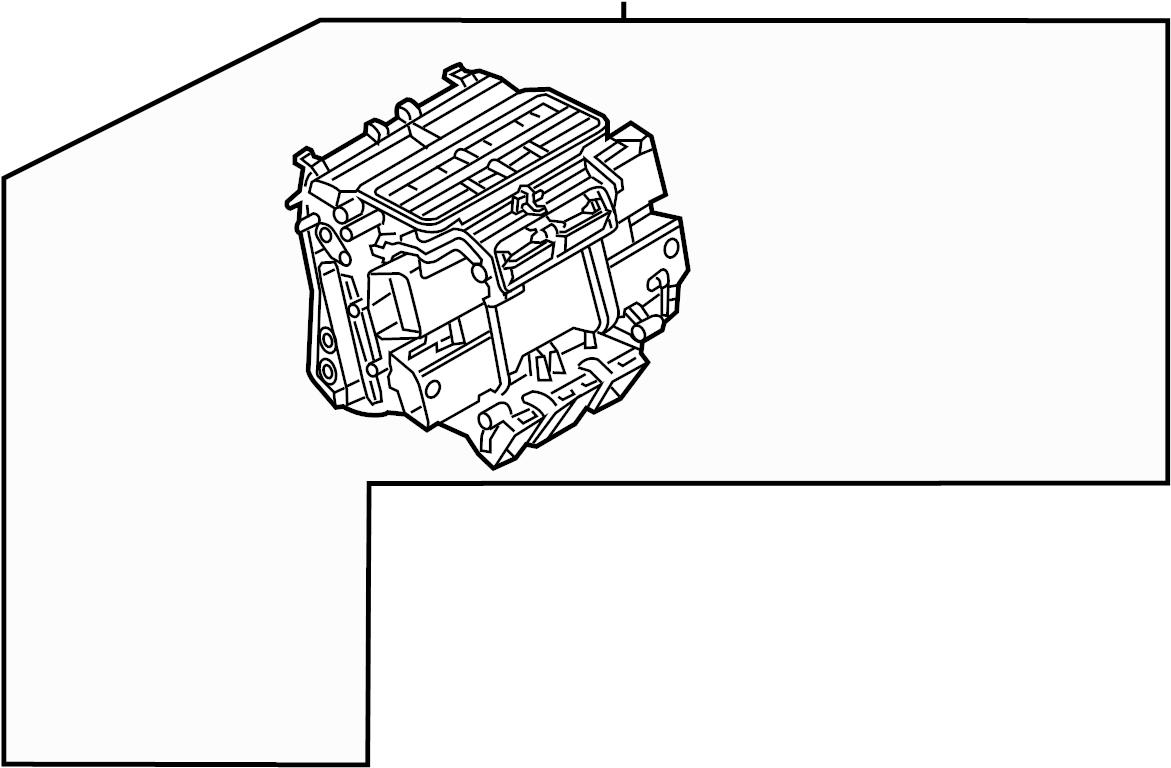 2017 Audi A7 Air Distributor. Housing. HVAC Unit Case