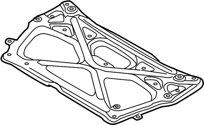 2014 Audi A6 Premium Sedan 2.0L A/T Quattro Engine Cradle