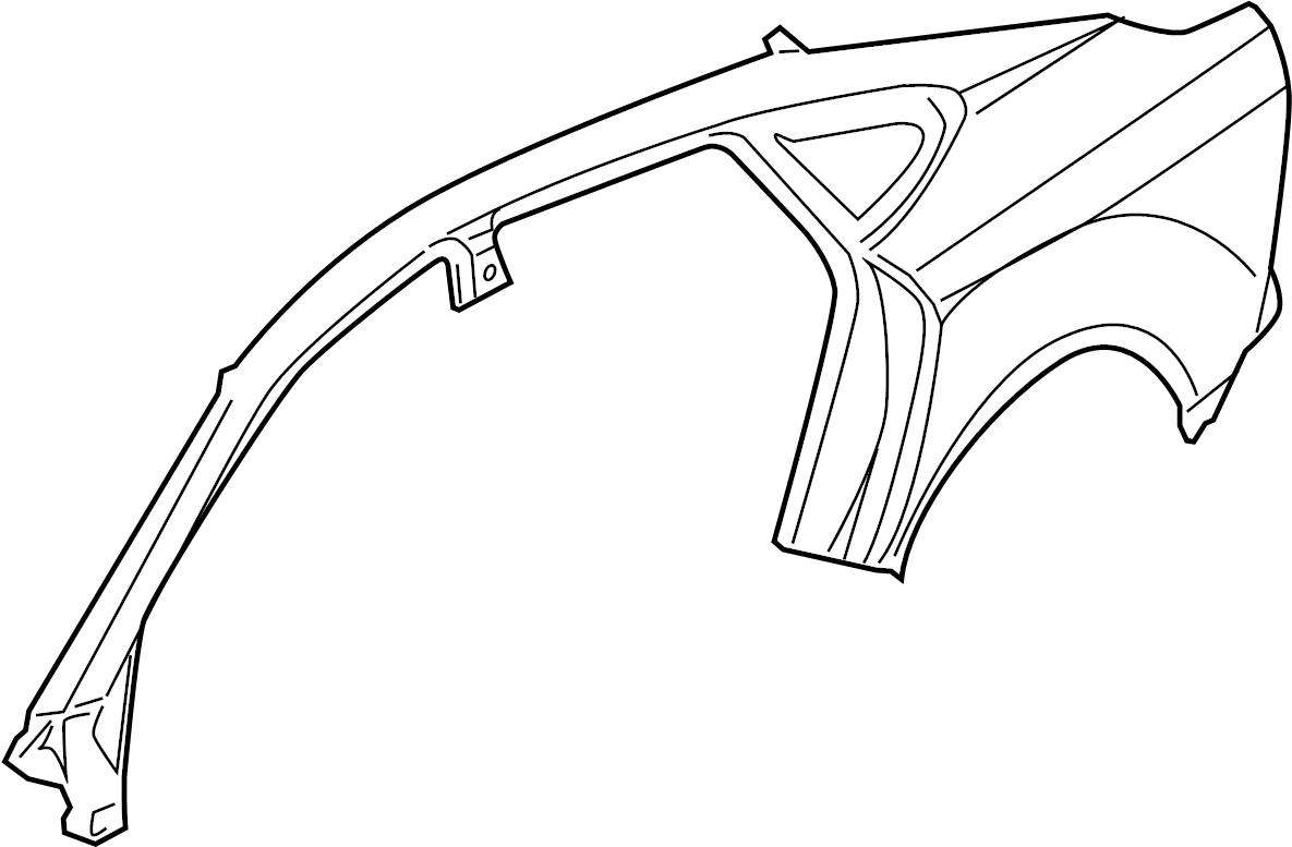 Audi S7 Panel Quarter W Roof Rail Panel W Roof