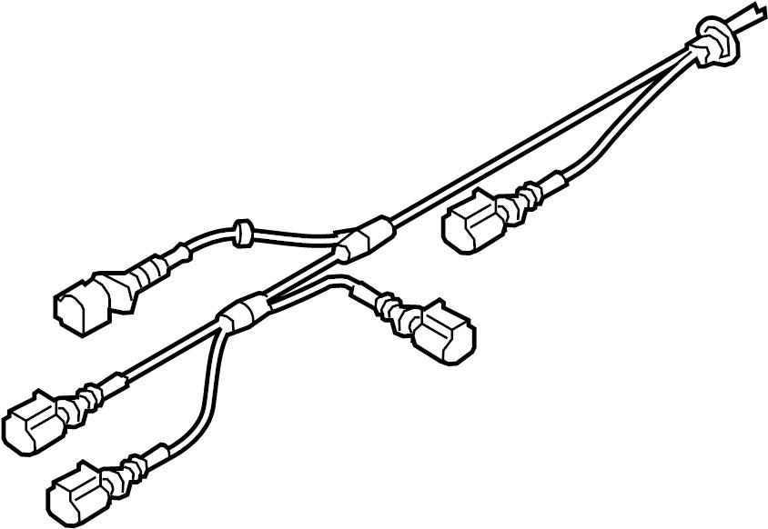 Audi A7 Abs wheel speed sensor wiring harness. Suspension