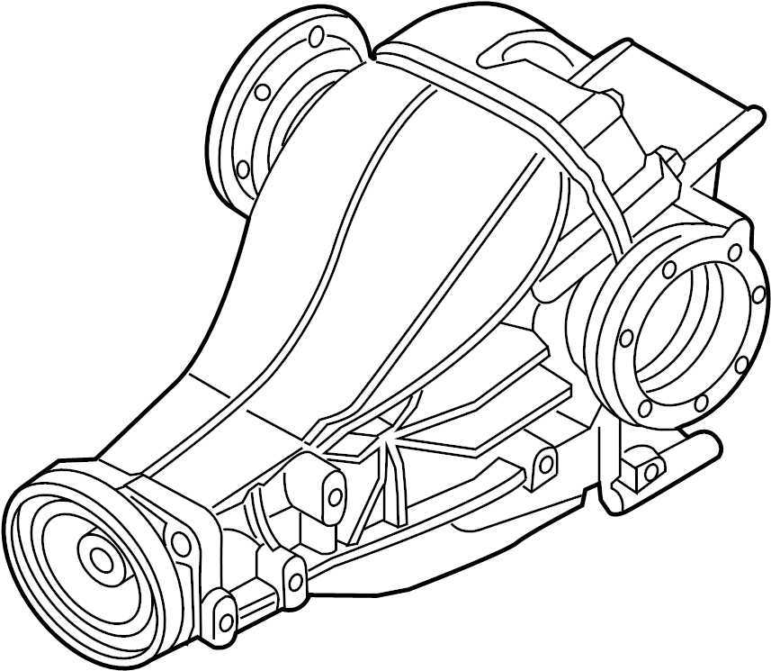 Audi S5 Carrier. Differential. Differential assembly