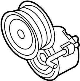 2011 Audi Belt tensioner. BELTDAMPER. SERPENTINE TENSIONER