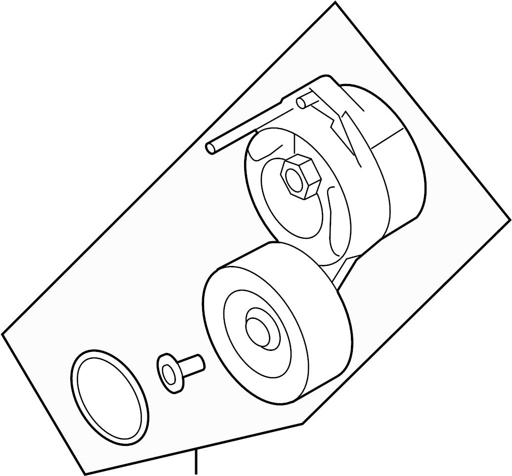 2012 Audi Belt tensioner. BELTDAMPER. SERPENTINE TENSIONER