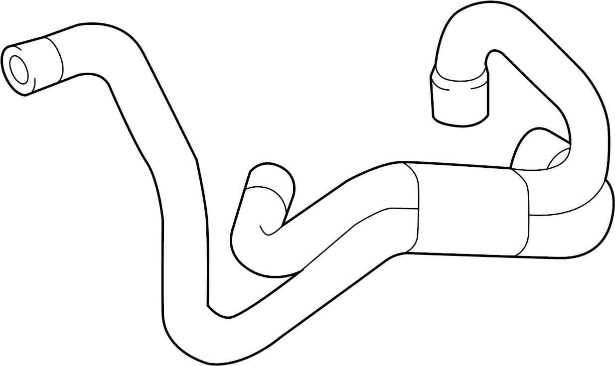 Audi Q5 Engine Coolant Hose. LITER, Auxiliary, Pump