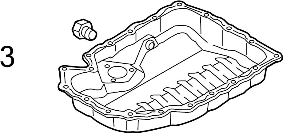 2012 Audi A4 Base Sedan 2.0L A/T Quattro Plug. Drain. Oil