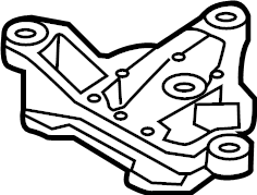 2015 Audi Automatic Transmission Mount Bracket. LITER
