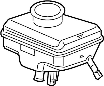 2012 Audi A6 Brake Master Cylinder Reservoir. PANEL