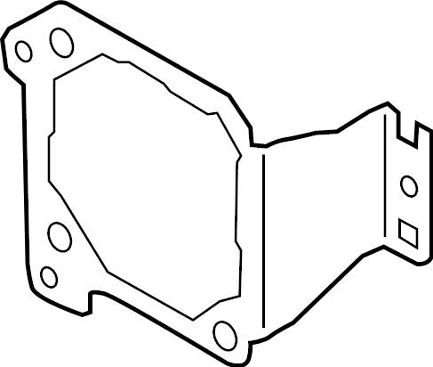 2017 Audi A4 Cruise Control Distance Sensor Bracket. 2017