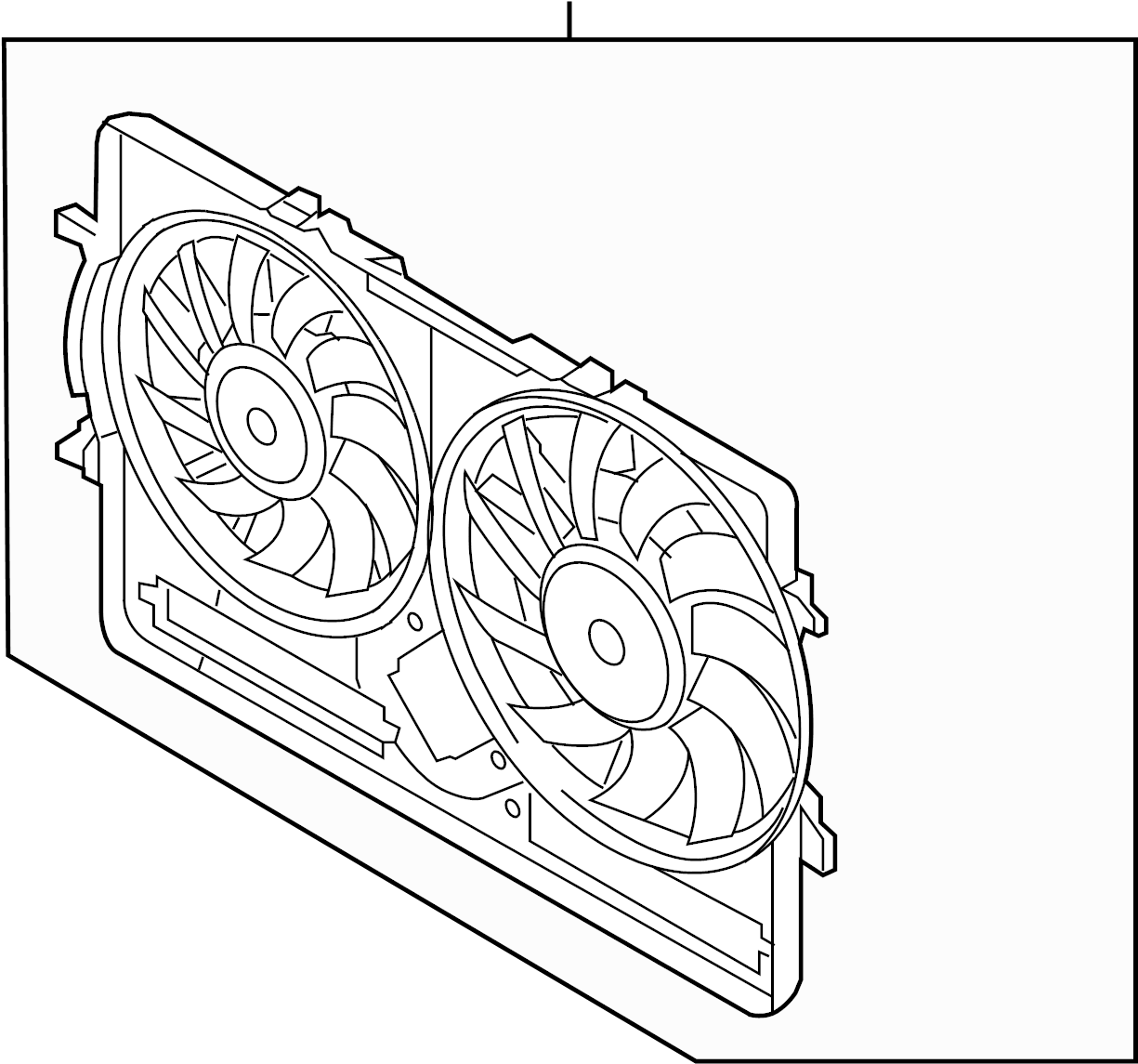 2012 Audi Q5 Engine Cooling Fan Shroud (Front). Inzi